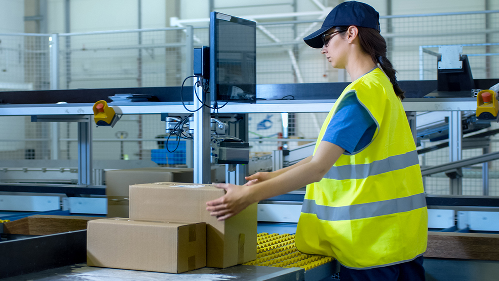 Cross docking services - girl handing a package